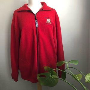 Red Unisex Fleece Jacket